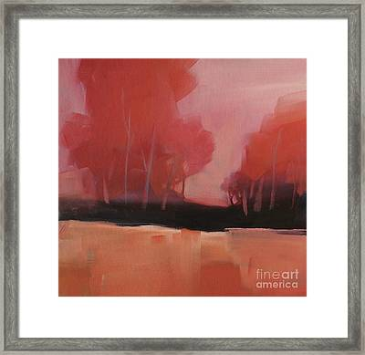 Red Flair Framed Print