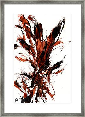 Red Flame 66.121410 Framed Print by Kris Haas