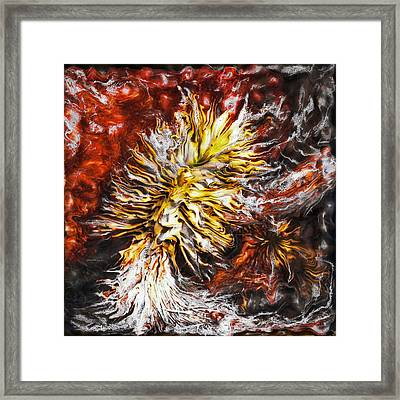 Red Flame Yucca Framed Print by Paul Tokarski