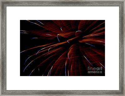 Red Flare Framed Print by Jeannie Burleson