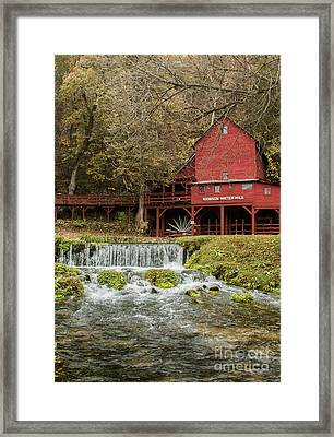 Red Flour Mill Framed Print by Robert Frederick