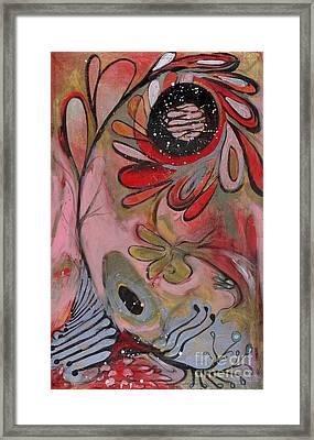 Red Flower Framed Print by Michelle Spiziri