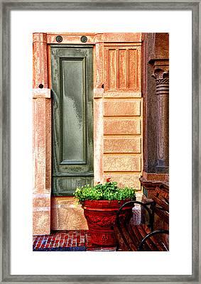 Red Flower Pot Framed Print