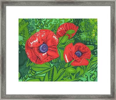 Red Flower Framed Print by Will Stevenson