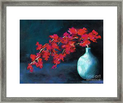 Red Flowers Framed Print by Frances Marino