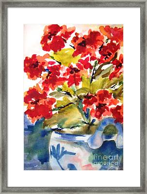 Red Flowers Framed Print by Sandi Stonebraker