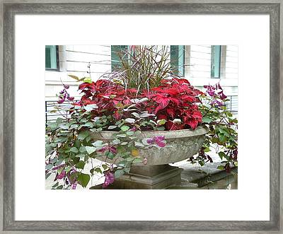 Red Foliage Framed Print by Gregory Jeffries