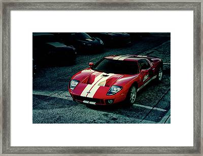 Red Ford Gt Framed Print