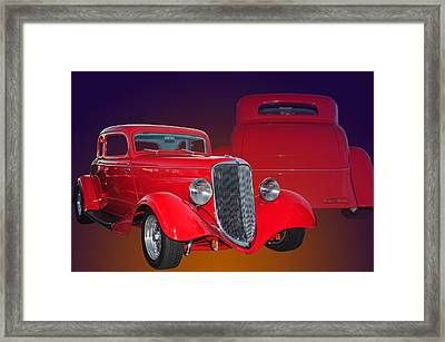 Red Ford Framed Print by Jim  Hatch