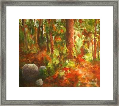 Red Forest Framed Print
