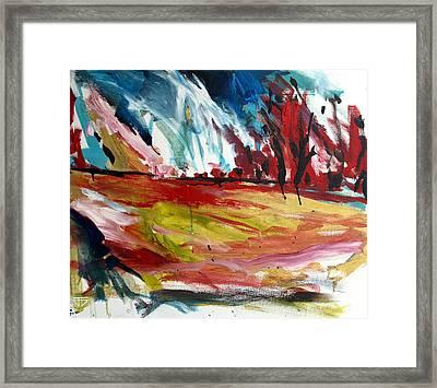 Red Forest Framed Print