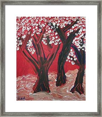 Red Forest Framed Print by Joshua Redman