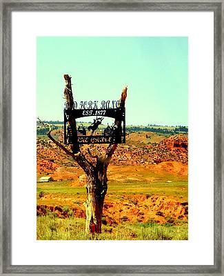 Framed Print featuring the photograph Red Fork Ranch by Antonia Citrino