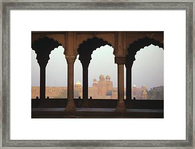 Red Fort From The Jama Masjid Framed Print by Gloria and Richard Maschmeyer - Printscapes