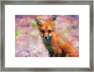 Framed Print featuring the digital art Red Fox  by Claire Bull