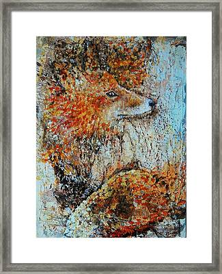 Red Fox Framed Print by Jean Cormier