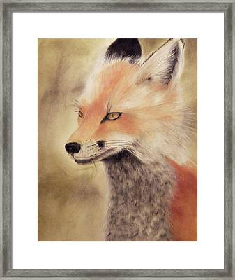 Red Fox Framed Print by Joanne Giesbrecht