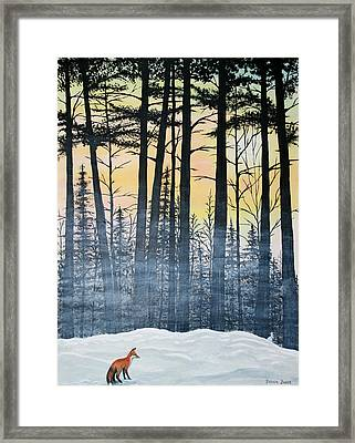Red Fox Morning Hunt Framed Print