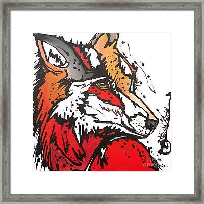 Red Fox Framed Print by Nicole Gaitan