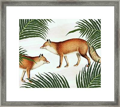 Red Fox Pair Framed Print