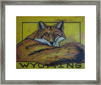 Red Fox Wyoming Framed Print