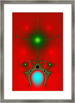 Red Fractal Framed Print by Charmaine Zoe
