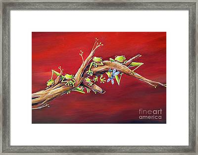 Red Frogs Framed Print