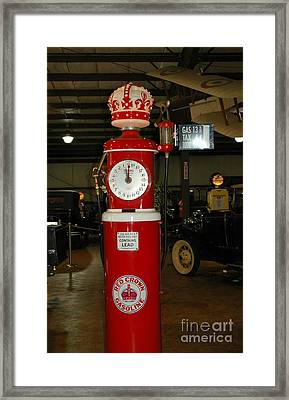Red Gas Pump Framed Print