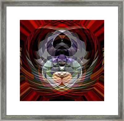 Red Geo Low Framed Print by Beverly Kimble Davis