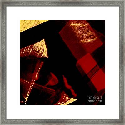 Red Geometric Abstraction Framed Print by Elena Lir-Rachkovskaya