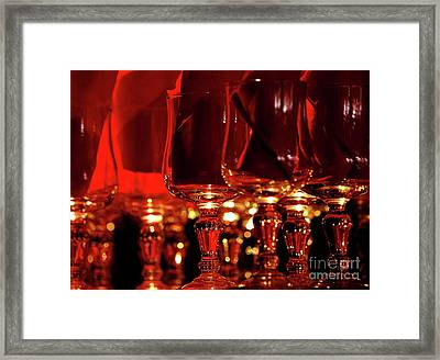 Red Glassart Framed Print