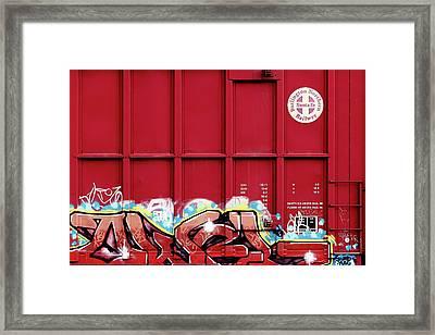 Red Graffiti Framed Print by Todd Klassy