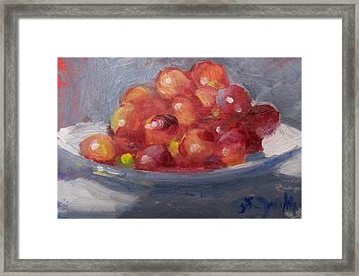 Red Grapes Framed Print by Susan Jenkins