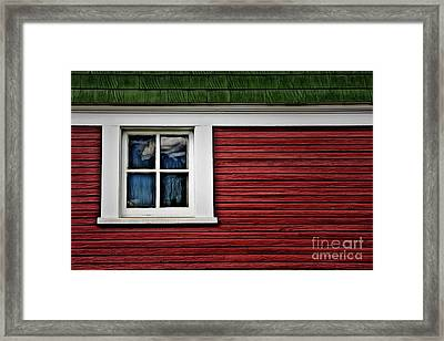 Framed Print featuring the photograph Red Green by Brad Allen Fine Art