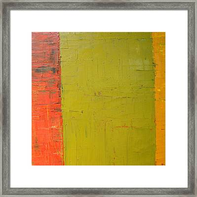 Red Green Yellow Framed Print by Michelle Calkins