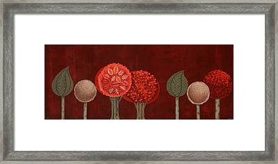 Red Grove Framed Print by Graciela Bello