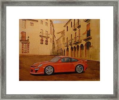 Red Gt3 Porsche Framed Print