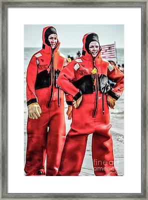 Red Gumby Framed Print by Yvette Wilson