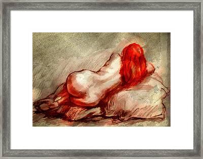 Red Framed Print by Gun Legler