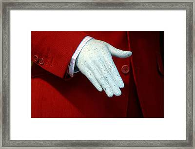 Red Handed Framed Print by Jez C Self