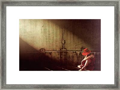 Red Hat Framed Print by Bob Orsillo