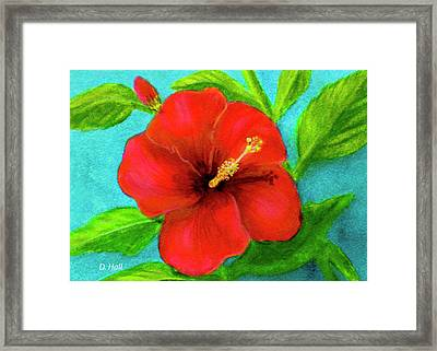 Red Hawaii Hibiscus #238  Framed Print by Donald k Hall
