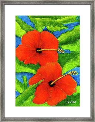 Red Hawaii Hibiscus Flower #267 Framed Print by Donald k Hall
