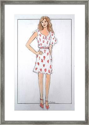 Red Heart Dress Framed Print