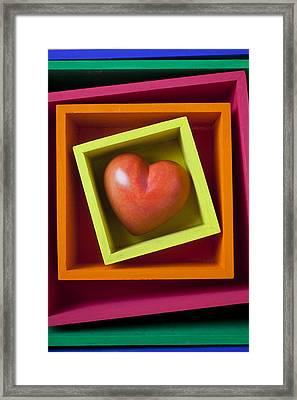 Red Heart In Box Framed Print