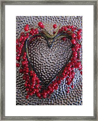 Red Heart  Framed Print by Lindie Racz