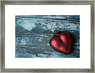 Red Heart Framed Print by Nailia Schwarz