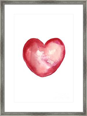 Red Heart Valentine's Day Gift Framed Print by Joanna Szmerdt