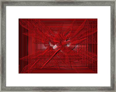 Red Heartwires Framed Print