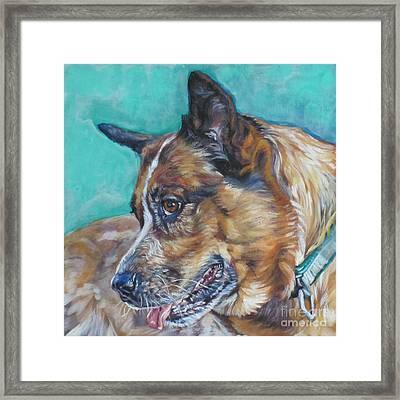 Red Heeler Australian Cattle Dog Framed Print by Lee Ann Shepard